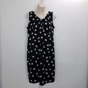 Poppy & Bloom Floral Midi Dress Sz 12 Black B6